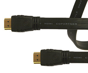 Image of 0.5m Flat HDMI Cable High Speed with Ethernet
