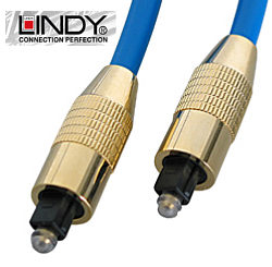 0.5m Toslink Optical Cable - SPDIF Optical Cable - Lindy 37980