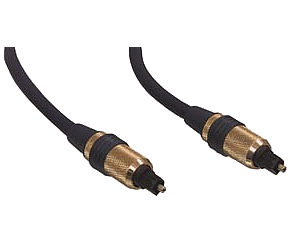 10m Toslink Cable - Toslink Optical Cable Pro Gold