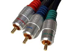 1m Component Cable - OFC Component Video Cable Gold Plated