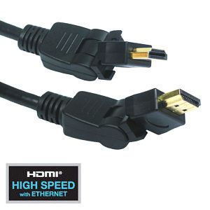 1m HDMI Rotating Cable with Swivel High Speed Ethernet