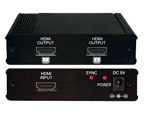 2 Way HDMI Splitter HD Ready Full HD to 1080p