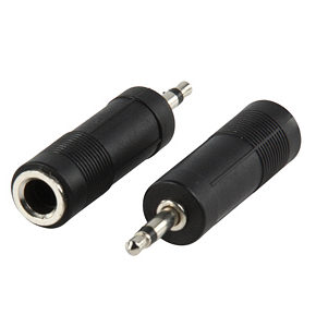 3.5mm Mono Plug to 6.35mm Stereo Socket Adapter