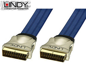 3m Premium Gold Scart Lead - Scart to Scart Cable Lindy 37562