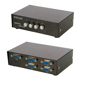 VGA Switcher 4 Port Manual Switch