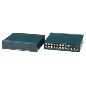 4 Way Audio Video Distribution Amplifier