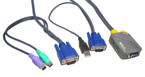 2 Port PS/2 Micro KVM With PS/2-USB Leads