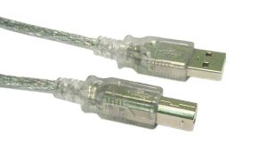 2M USB 2.0 A To B Data Cable Clear