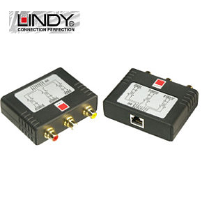 Audio Video over Cat5e / Cat6 Balun Set - For AV / CCTV Lindy 32535