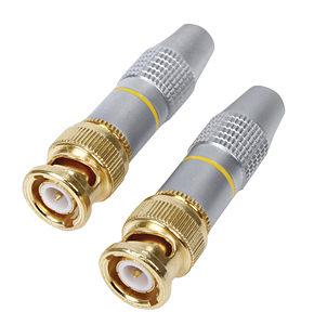 BNC Plug Connector Solder for Video or CCTV etc 2 Pack