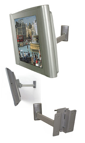 Image of B-Tech BT7512 LCD Wall Mount with Tilt and Swivel - TV and Monitor