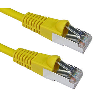 0.5m CAT6A Patch Cable Yellow 10GBase-T