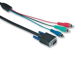 Hama 2m Component Video to VGA HD15 Cable