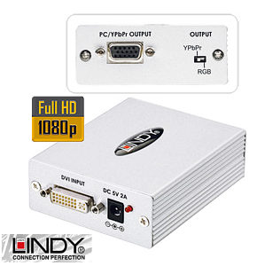 DVI-D to VGA and Component Video Converter Lindy 32562