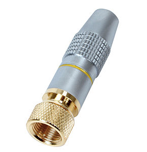 F Type Plug HQ Gold Plated Connector Metal Body