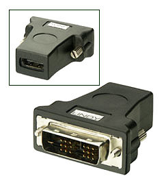 HDMI to DVI Adapter - HDMI Female to DVI-D Male - Lindy