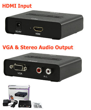HDMI to VGA Converter - HD15 + Audio