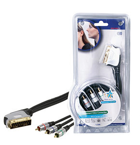 HQ Silver Series Scart to Component Video Cable 5m