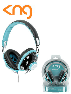 KNG Bulldozr Chaos Construction Turquoise Headphones KNG-5130