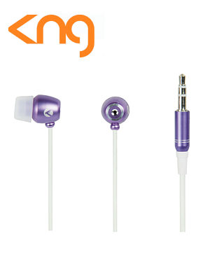 KNG Cyclone Purple Inner Tornado Earphones KNG-2110