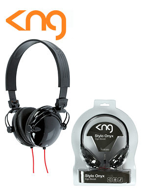 KNG Stylo Onyx Ergo Boost Black Headphones KNG-5050