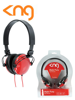 KNG Stylo Fury Ergo Boost Red Headphones KNG-5070