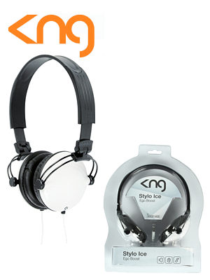 KNG Stylo Ice Ergo Boost White Headphones KNG-5060