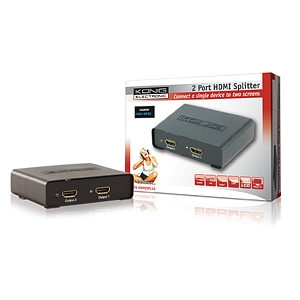 2 Port HDMI Splitter Konig Metal Cased