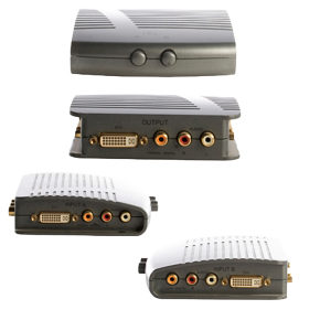 DVI Manual Switch 2 Way With Audio SPDIF