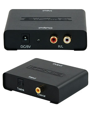 Optical to Phono Converter Toslink to RCA Optical to Headphones