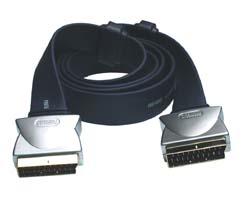 Profigold PGV782 1.5m Flat Cable Scart Lead