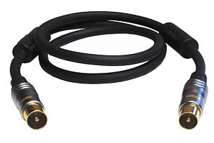 Profigold PGV8902 2m TV Aerial Cable with Suppressors