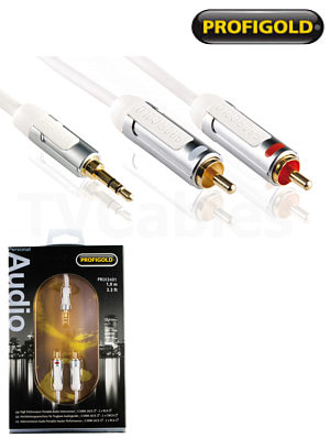 Profigold PROI3402 2m iPod Hi-Fi Audio Cable Portable Audio iPhone iPad