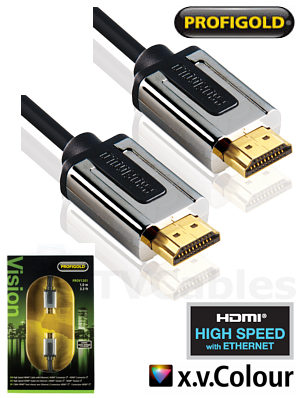 Profigold PROL1201 1m LED TV HDMI Cable High Speed with Ethernet