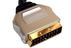 1m Gold Plated Scart Lead