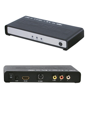 S-Video to HDMI Converter Composite Video and Stereo Audio to HDMI