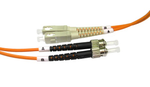 2m Fibre Optic Cable ST-SC orange 50/125