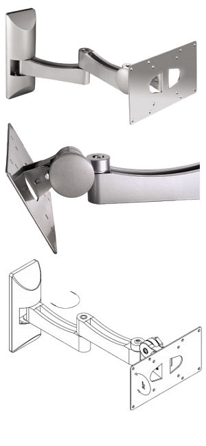 Tilt Swivel Double Arm TV Bracket 10
