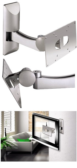 "Image of TV Bracket with Tilt and Swivel 10"" - 32"""