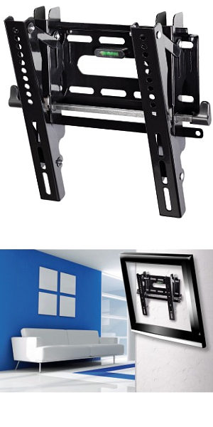 "Image of Ultra Slim Tilting TV Wall Mount 10"" - 37"""