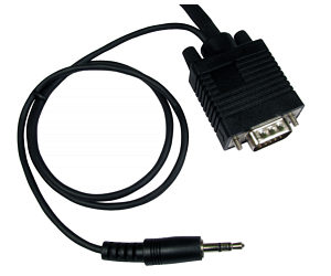 VGA &amp; 3.5mm Cable PC to TV Lead 10m