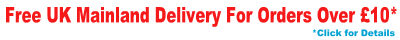 Free delivery on orders over �10 + VAT