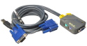 2 Port PS/2 KVM Switch with 2x USB Moulded Leads