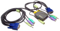 2 Port KVM With Audio Function C/W Moulded Cable