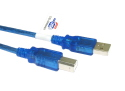 2M USB 2.0 A To B Data Cable Blue