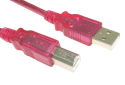 2M USB A To B Data Cable Red