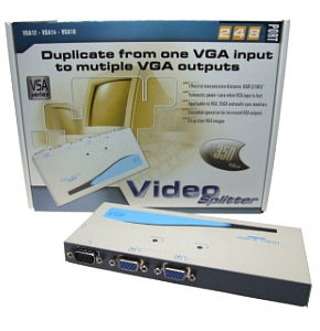 VGA Splitter 2 Port Connect a PC to 2 Monitors VSA12