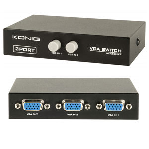 VGA Switch 2 Port Manual Switch