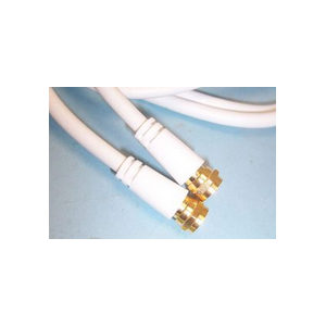 1m White Satellite Cable F-Type Sky Virgin Freesat