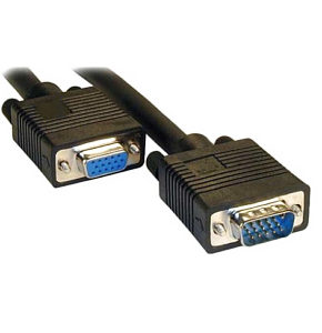Monitor Extension Cable 2m VGA / SVGA Black Male - Female